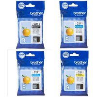 Original Multipack Brother DCP-J772DW Printer Ink Cartridges (4 Pack) -LC3211BK