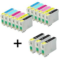 Compatible Multipack Epson Stylus Photo RX500 Printer Ink Cartridges (15 Pack) -C13T04814010