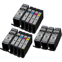 Compatible Multipack Canon Pixma TS9100 Printer Ink Cartridges (13 Pack) -1998C001