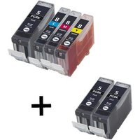 Compatible Multipack Canon Pixma MP800R Printer Ink Cartridges (6 Pack) -0628B001