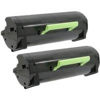TWIN PACK : Lexmark 51B2000 Remanufactured Black Standard Capacity Toner Cartridge