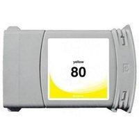 HP 80 Yellow Remanufactured High Capacity Inkjet Cartridge