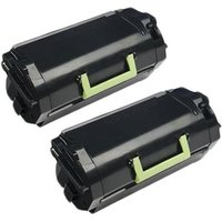 TWIN PACK : Lexmark 53B2H00 Remanufactured Black High Capacity Toner Cartridges