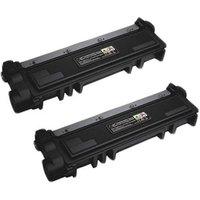 TWINPACK: Dell 593-BBLR (2RMPM) Black Remanufactured Standard Capacity Toner Cartridge