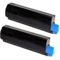 TWIN PACK : OKI 45807111 Black Remanufactured Extra High Capacity Toner cartridge
