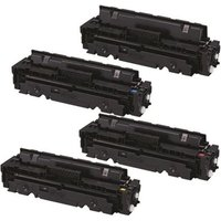 1 Full Set of Canon 046BK and 1 x Colour Set 046C/M/Y Remanufactured High Capacity Toner Cartridges