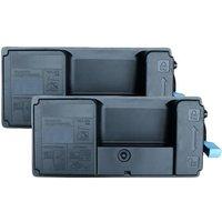 Twin Pack : Kyocera TK-3160 Black Remanufactured Standard Capacity Toner Cartridges