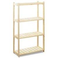 Lagerregal 'Store' aus Holz, 4 Lagerböden, erweiterbar bis zu 10 Böden
