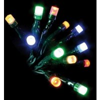 100 LED Multicolour Indoor Animated Fairy Lights Mains 7m