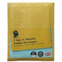 LetterHead 7 Pack Manilla Padded Envelopes Size A/000