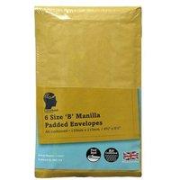 LetterHead 6 Pack Manilla Padded Envelopes Size B/00
