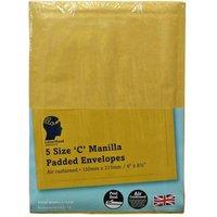 LetterHead 5 Pack Manilla Padded Envelopes Size C/0