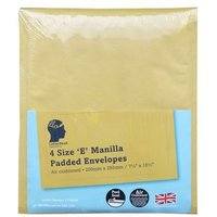 4 Manilla Padded Envelopes Size E/2