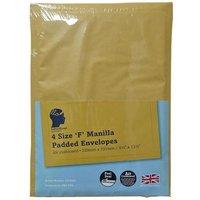 LetterHead 4 Pack Manilla Padded Envelopes Size F/3