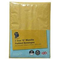 LetterHead 3 Pack Manilla Padded Envelopes Size G/4