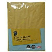 LetterHead 3 Pack Manilla Padded Envelopes Size H/5