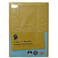 LetterHead 2 Pack Manilla Padded Envelopes Size J/6