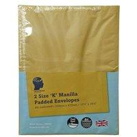 LetterHead 2 Pack Manilla Padded Envelopes Size K/7