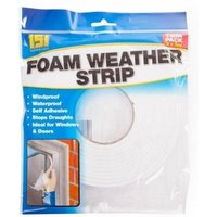 151 2PK Foam Weather Strip Draught Excluder 10m