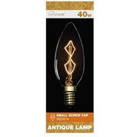 Crystalite 40w Small Screw Cap Antique Lamp Bulb (Z Shape Filament)