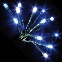 100 LED Blue & White Indoor Animated Christmas Lights Mains 7m