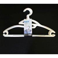 Clothes Hanger 4 Piece Set - White