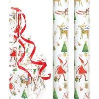 4m Whimsical Christmas Wrap - Santa