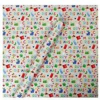 4m Whimsical Christmas Wrap - Text