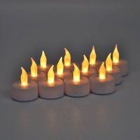 12 Pack of White LED Tealights