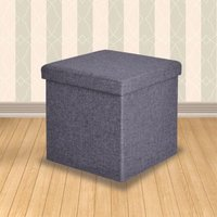 'Secreto Storage Ottoman Grey Small