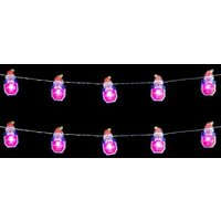 10 LED Indoor Santa Stop Here Lights Static Battery 1.35m