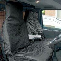 Black Water Resistant Nylon Van Seat Covers