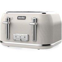 Breville Flow 4 Slice Toaster - Cream