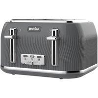 Breville Flow 4 Slice Toaster - Slate Grey