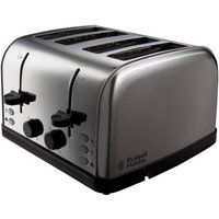 Buy Russell Hobbs Futura Toaster 4 Slice - Stainless Steel - QD stores