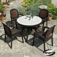 Nnardi Toscana 100 Garden Furniture Set (Supplied with 4 Coffee coloured Beta Chairs)
