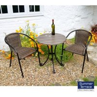 Kalmar Garden Furniture Bistro Set (supplied with 2 chairs)