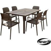 Libeccio Garden Furniture Set & 6 Coffee Bora Garden Chairs