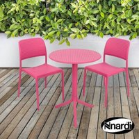 Pink Step Garden Bistro Set & 2 Pink Bistro Chairs