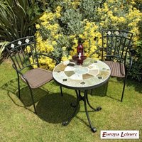 Orba Garden Bistro Furniture Set (supplied with 2 Murcia Chairs)