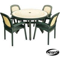 Nnardi Toscana 120 Garden Furniture Set (Ravenna style with 4 Green Beta Chairs)