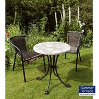 Romano Bistro Garden Furniture Set  (supplied with 2 San Remo Chairs)