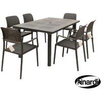 Libeccio Garden Furniture Set & 6 Anthracite Bora Chairs