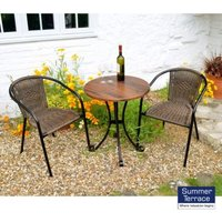 Dalarna Garden Bistro Set (Supplied with 2 San Remo Chairs)
