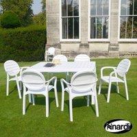 Alloro Garden Furniture Set (Supplied with 6 White Palma Chairs)