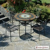 Alcira Garden Furniture Set (Supplied with 4 Malaga Chairs)