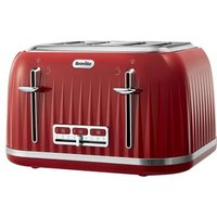 Buy Breville Impressions 4 Slice Toaster Red - QD stores