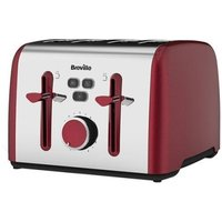 Buy Breville Colour Notes 4 Slice Toaster - Red - QD stores