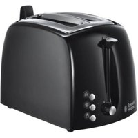 Buy Russell Hobbs Textures 2 Slice Toaster - Black - QD stores