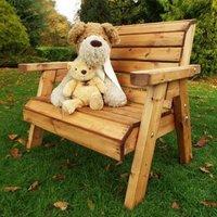 Little Fellas 2 Seat Redwood Kids Traditional Garden Bench